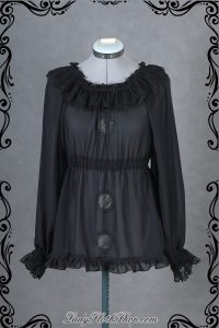 Bat lace long sleeve blouse
